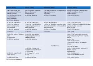 Schema programma